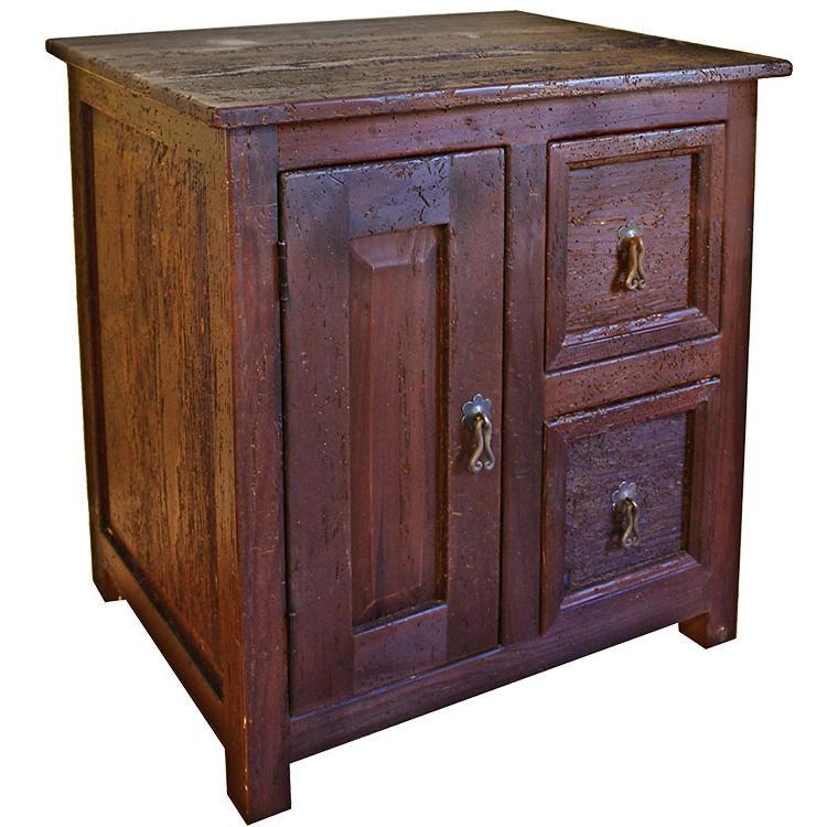Rustic furniture southwestern rustic durango nightstand for Rustic nightstands