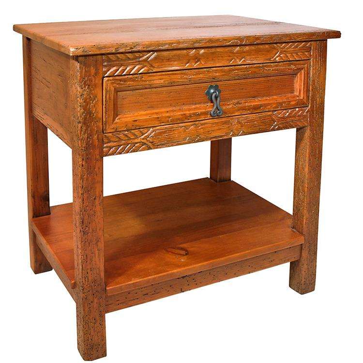 Rustic Furniture Southwestern Rustic Barrotes Nightstand