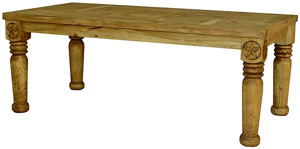 Rustic Furniture Medium Hacienda Star Mexican Rustic Pine Dining