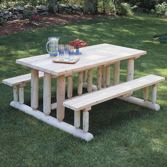 rustic furniture park style picnic table outdoor patio
