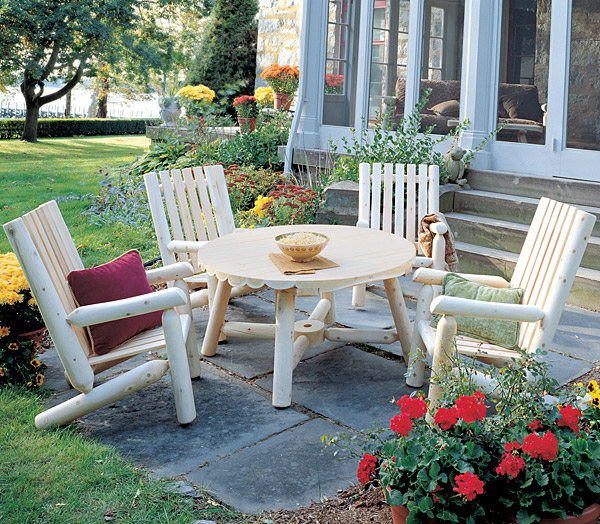 Rustic Furniture High Back Arm Chair Outdoor Patio Cedar