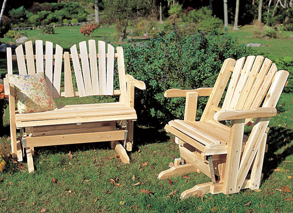 rustic furniture adirondack glider love seat outdoor