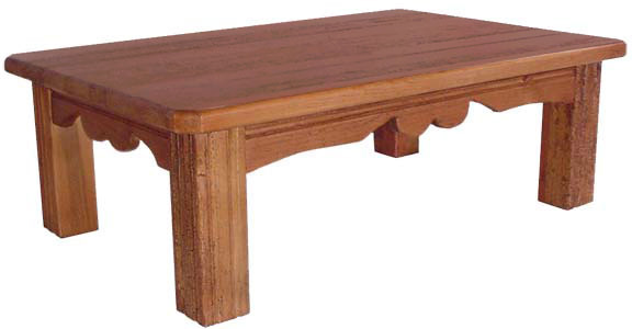 Rustic furniture southwestern rustic santa clara coffee for Southwestern coffee table