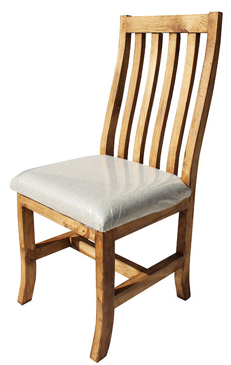 Rustic Furniture Keko Mexican Rustic Pine Chair With Cushion