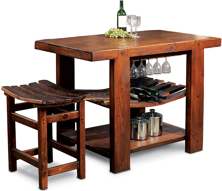 Rustic Furniture Rustic Oak Russian River Kitchen Island